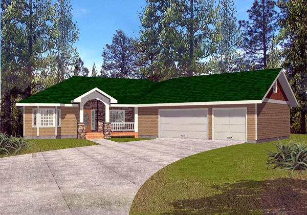 Ranch House Plan 87181 Elevation