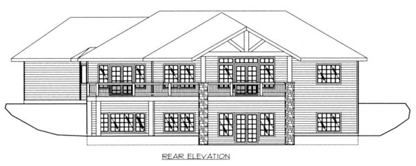 Ranch House Plan 87181 Rear Elevation