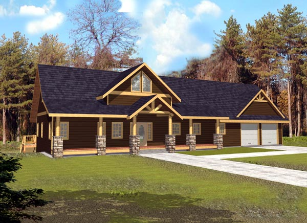 Country Craftsman Tudor House Plan 87182 Elevation