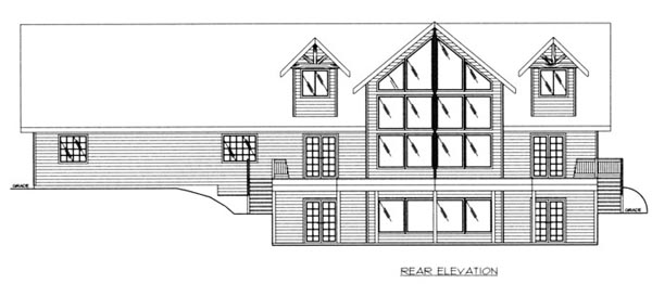 Country Craftsman Tudor House Plan 87182 Rear Elevation