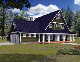 House Plan 87184   Traditional Style Plan with 2843 Sq Ft, 3 Bedrooms, 3 Bathrooms, 3 Car Garage Elevation