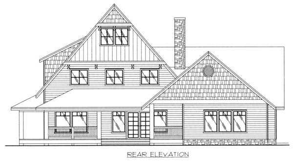 Traditional House Plan 87184 Rear Elevation
