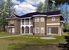 Contemporary House Plan 87185 with 5 Beds, 7 Baths Elevation
