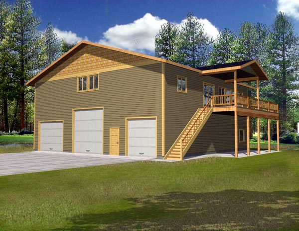 Traditional Garage Plan 87186 Elevation