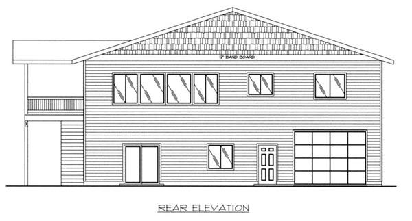 Traditional Garage Plan 87186 Rear Elevation