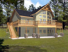 Contemporary House Plan 87189 Elevation