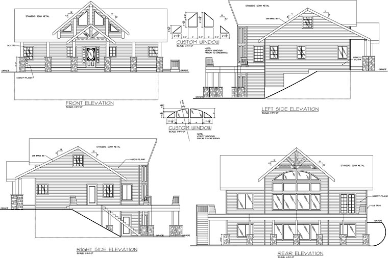 Contemporary House Plan 87189 Rear Elevation