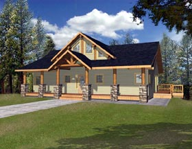 Contemporary Country House Plan 87190 Elevation