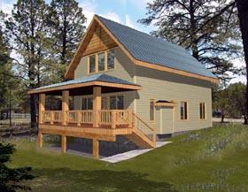 Cabin House Plan 87191 Elevation