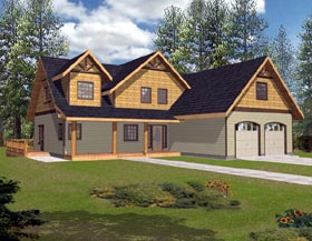 Country Craftsman House Plan 87194 Elevation