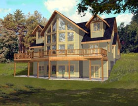 Contemporary House Plan 87197 Elevation