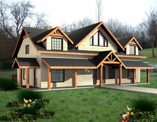 Country House Plan 87198 with 4 Beds , 4 Baths Elevation