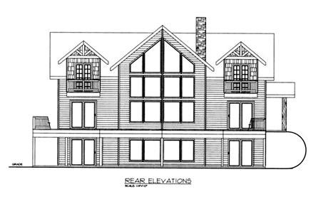 Country House Plan 87198 Rear Elevation