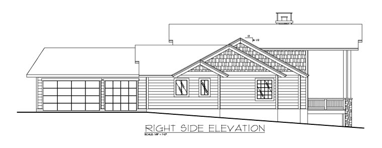 Contemporary, Traditional House Plan 87199 with 3 Beds, 3 Baths, 3 Car Garage Picture 2