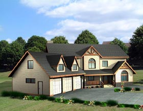Country House Plan 87202 Elevation