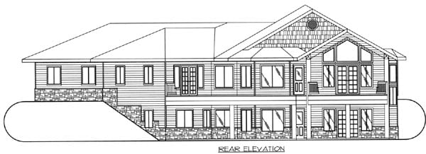 Traditional House Plan 87203 Rear Elevation