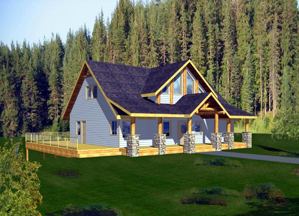 House Plan 87205 with 3 Beds , 2 Baths Elevation