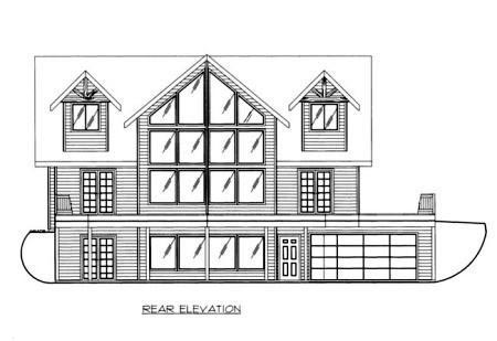 House Plan 87205 Rear Elevation