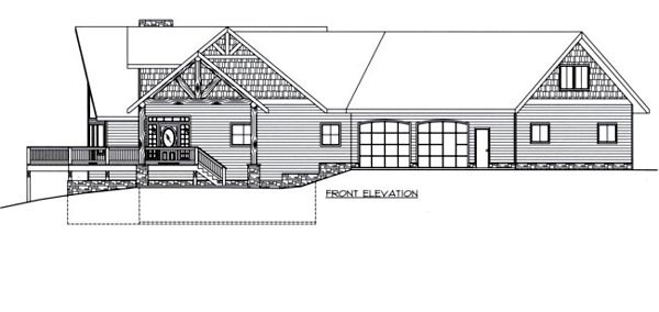 Contemporary House Plan 87206 with 5 Beds, 4 Baths, 3 Car Garage Rear Elevation