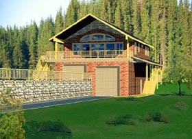Contemporary House Plan 87207 Elevation