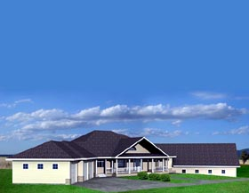 Traditional House Plan 87211 with 3 Beds, 4 Baths, 3 Car Garage Elevation