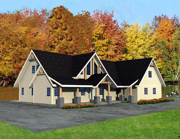 Contemporary House Plan 87216 Elevation