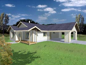 Ranch House Plan 87217 Elevation
