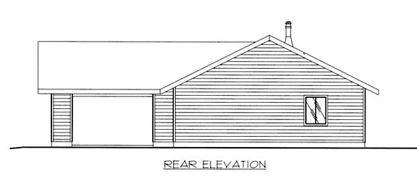 Ranch House Plan 87217 Rear Elevation