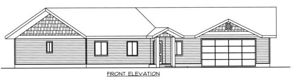House Plan 87220 Rear Elevation