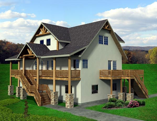 Traditional House Plan 87221 with 5 Beds, 4 Baths Elevation
