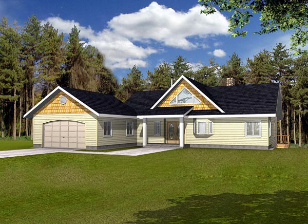 Ranch House Plan 87223 Elevation