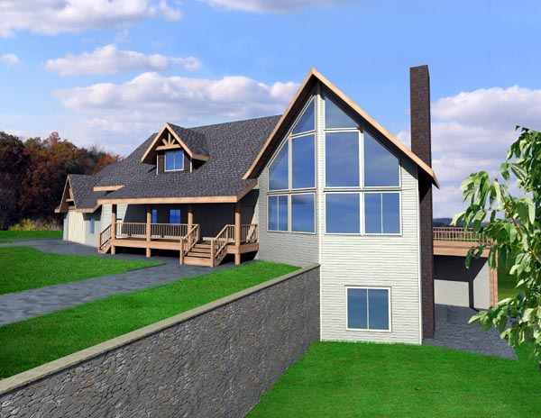 House Plan 87224 | Contemporary Style Plan with 2127 Sq Ft, 4 Bed, 4 Bath, 3 Car Garage Elevation