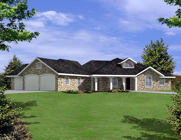 Ranch House Plan 87225 Elevation