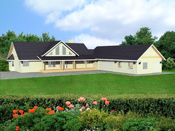 Ranch House Plan 87230 Elevation