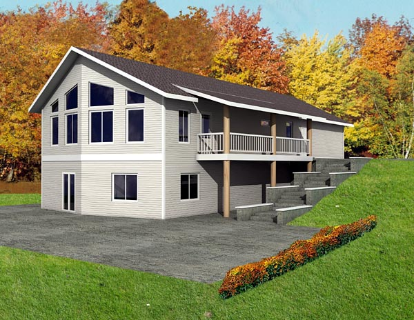 Contemporary House Plan 87231 with 2 Beds, 2 Baths, 2 Car Garage Elevation