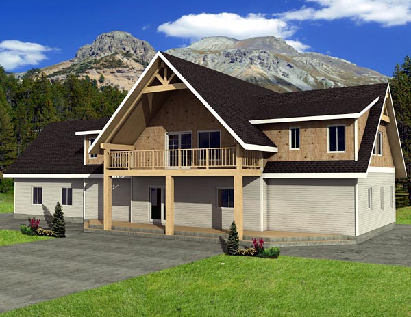 Traditional Elevation of Plan 87232