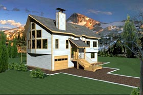 Contemporary House Plan 87234 Elevation