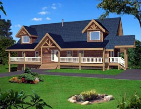 Cabin House Plan 87236 Elevation