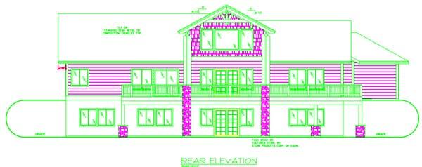 Ranch House Plan 87237 Rear Elevation