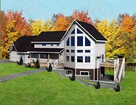 Contemporary House Plan 87240 Elevation