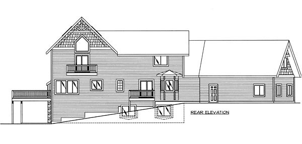 Contemporary House Plan 87240 Rear Elevation