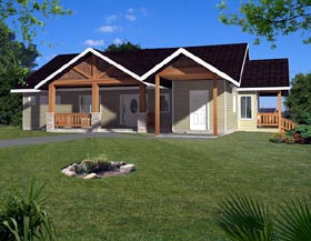 Ranch House Plan 87242 Elevation