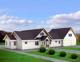Ranch House Plan 87243 Elevation