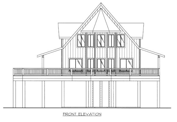 Traditional House Plan 87244 Rear Elevation