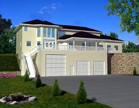 Contemporary House Plan 87245 Elevation