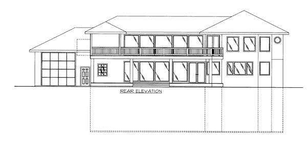Contemporary House Plan 87245 Rear Elevation