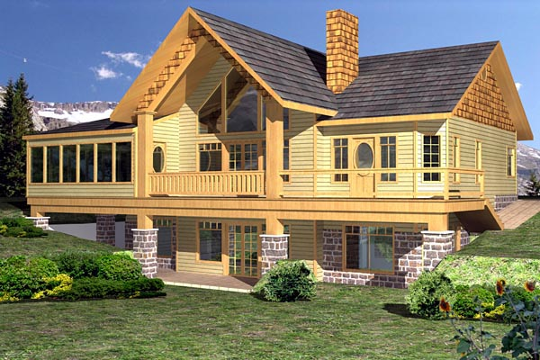 Contemporary House Plan 87246 Elevation