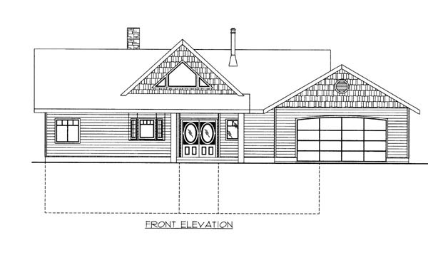 Contemporary House Plan 87246 Rear Elevation