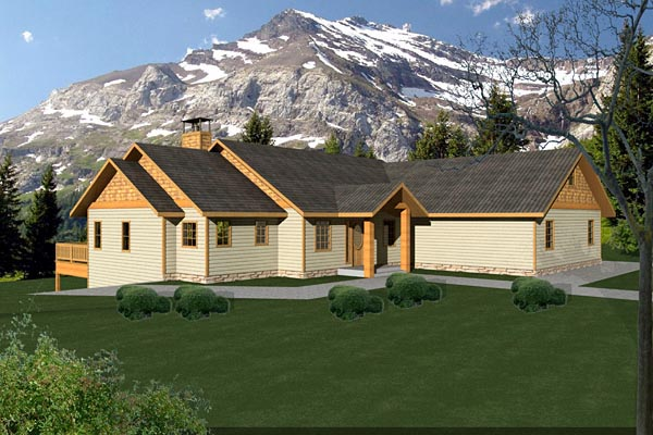 Ranch House Plan 87247 Elevation