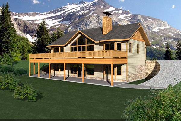 Ranch House Plan 87247 Rear Elevation